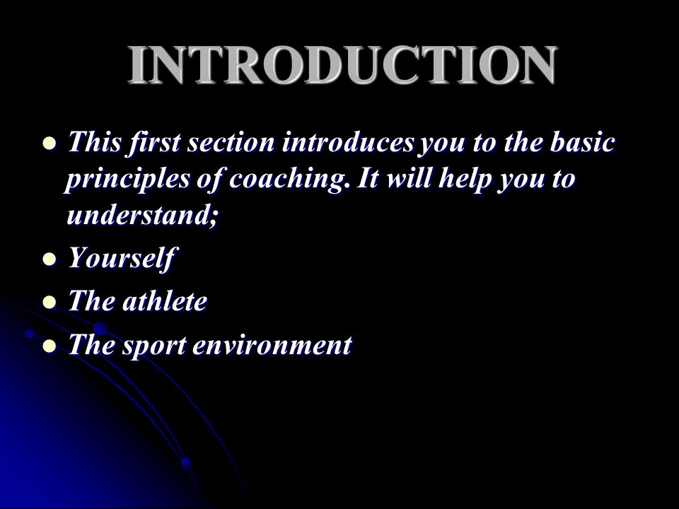 This Module has two Units Unit 1- Professionalism in Coaching Unit 2- Developing a Code of conduct This Module helps you to understand your own philosophy and role as a coach How to develop better programs and better athletes How a better knowledge of the rules of your sport can help your coaching How to help your athletes to follow the rules of their sport and Fair Play.