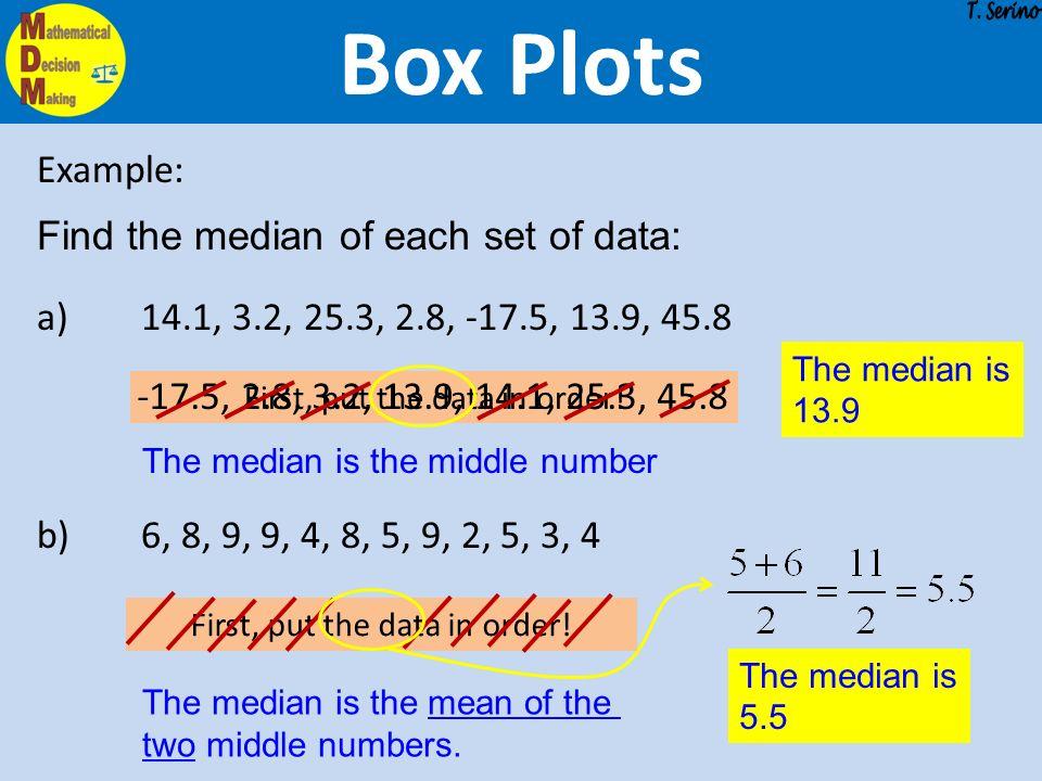 Probability statistics box plots describing distributions 4 box plots example find ccuart Images