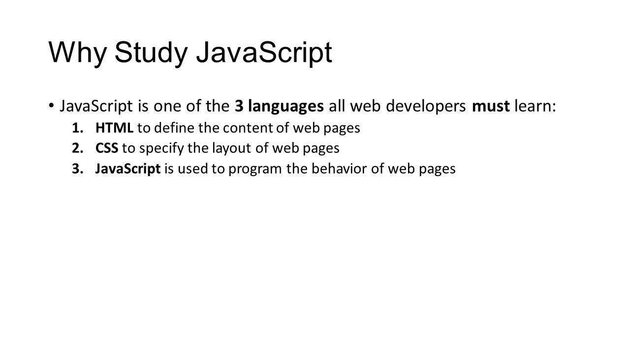 Javascript tutorial what is javascript javascript is the 3 why baditri Images