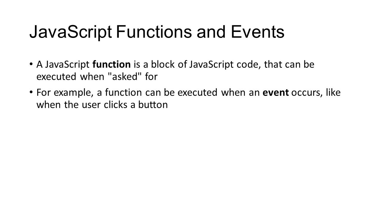 Javascript tutorial what is javascript javascript is the 5 javascript functions baditri Images