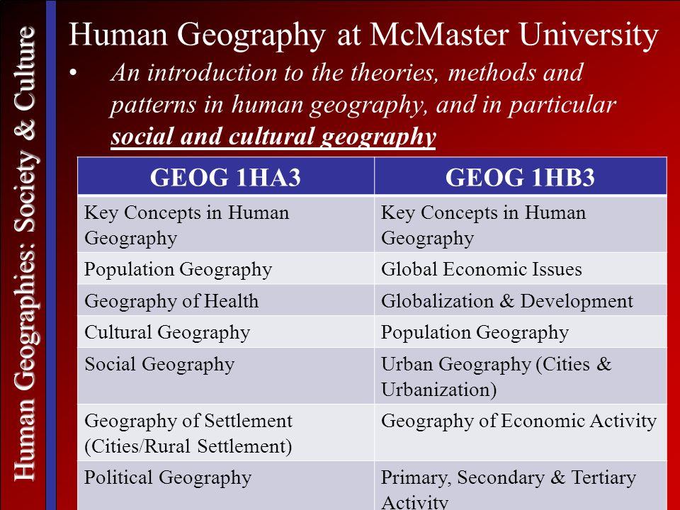 mcmaster university geography