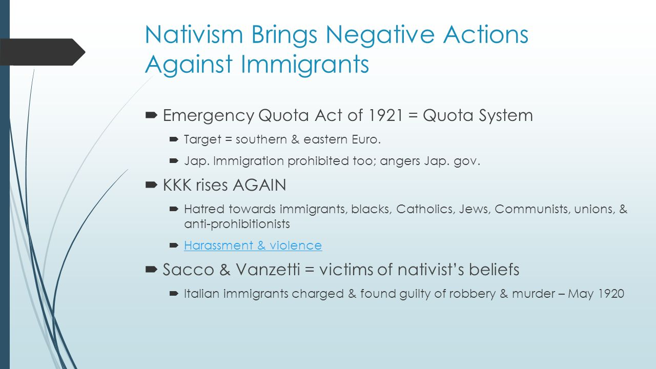 nativism essay 8th grade social studies dbq on the roaring twenties nativism, the kkk, setbacks introduce the essay be establishing a framework that is beyond a simple.