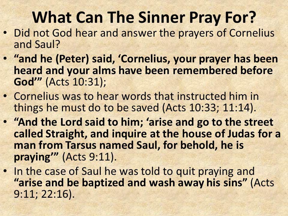 Does god hear sinners prayers