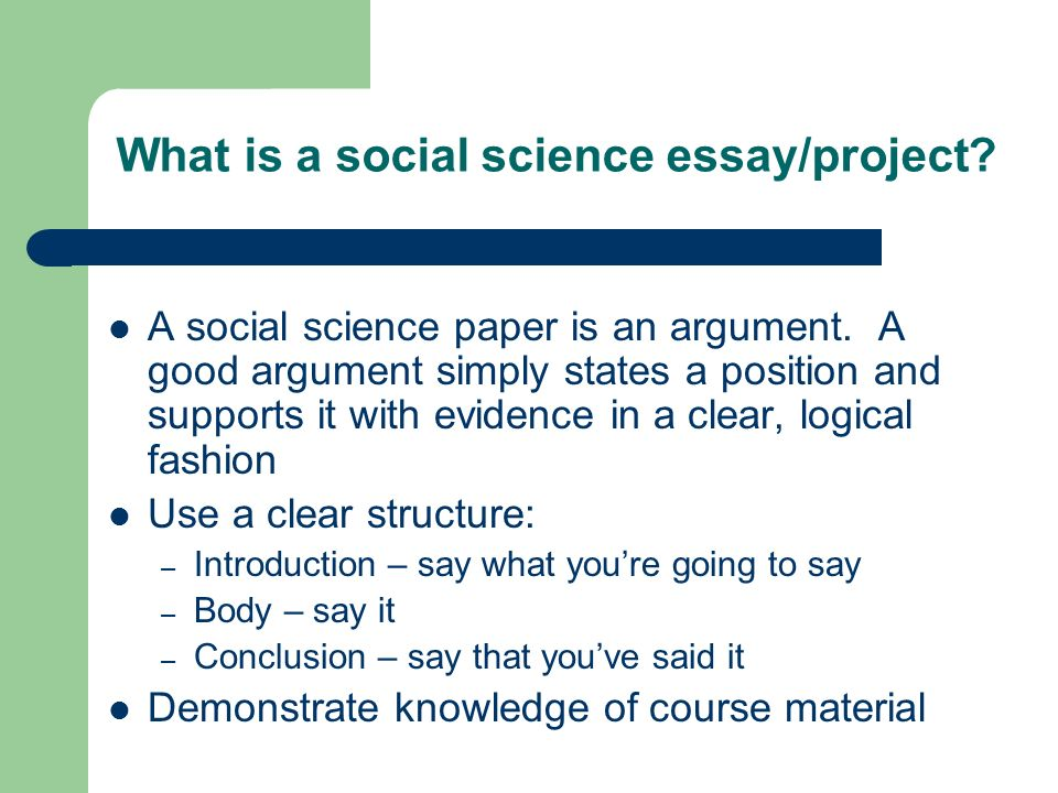 Science Essay Examples