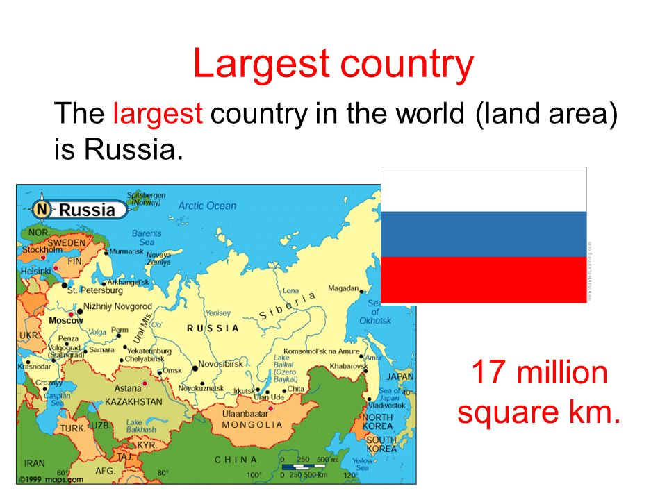 World Facts Lesson Seven Grade Six Largest Country The Largest - Biggest country in the world
