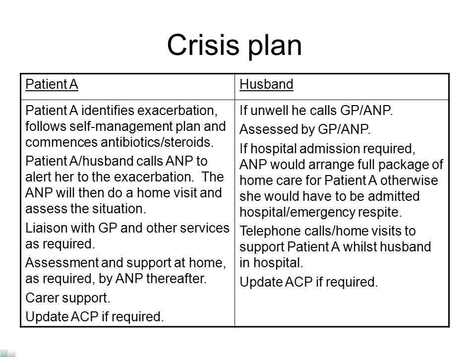 crisis management plan example
