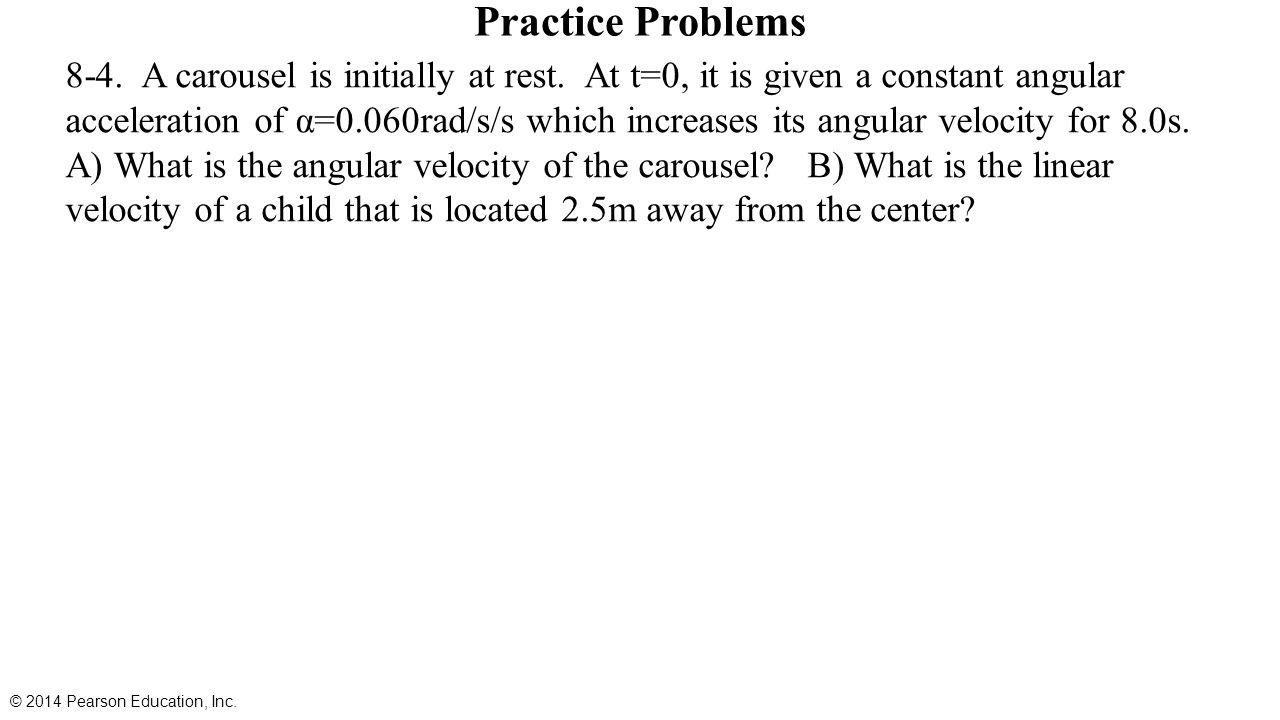 Chapter 8 rotational kinematics angular displacement velocity 15 practice biocorpaavc