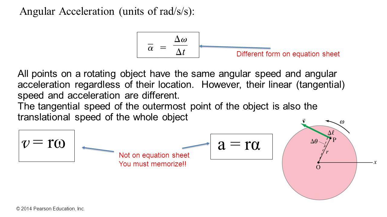 Chapter 8 rotational kinematics angular displacement velocity 6 angular acceleration biocorpaavc