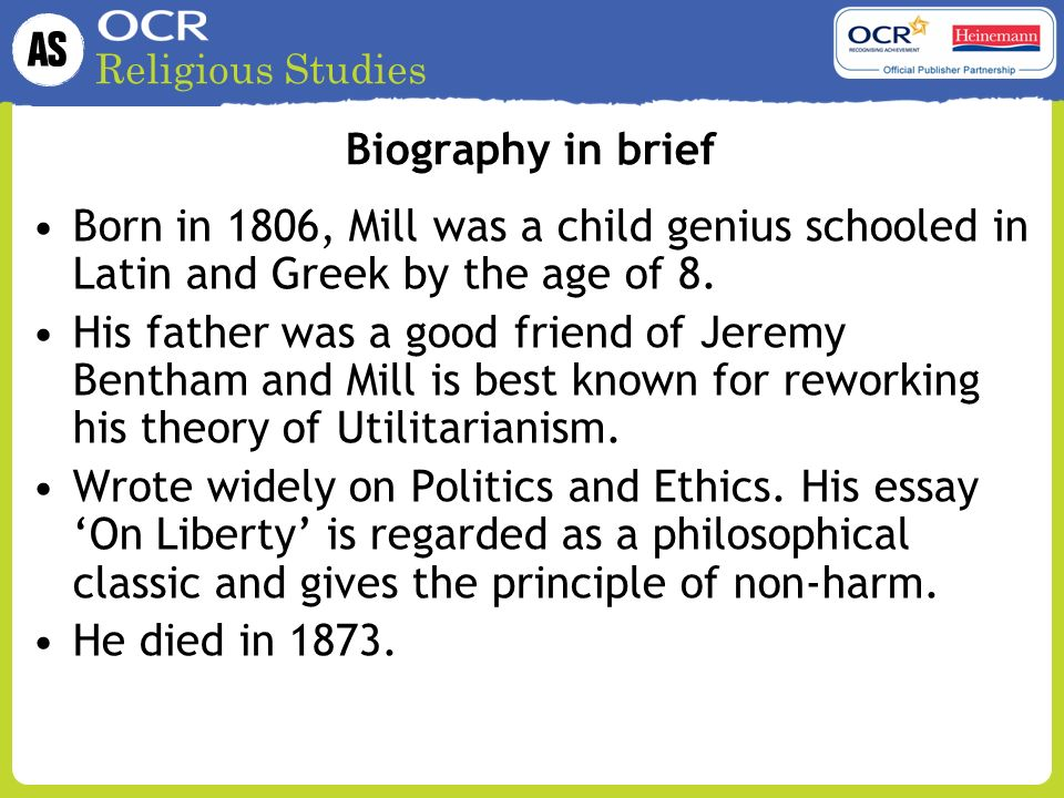 utilitarianism essay introduction Essays and criticism on john stuart mill's utilitarianism - criticism: j s mill's utilitarianism: liberty, equality, justice.