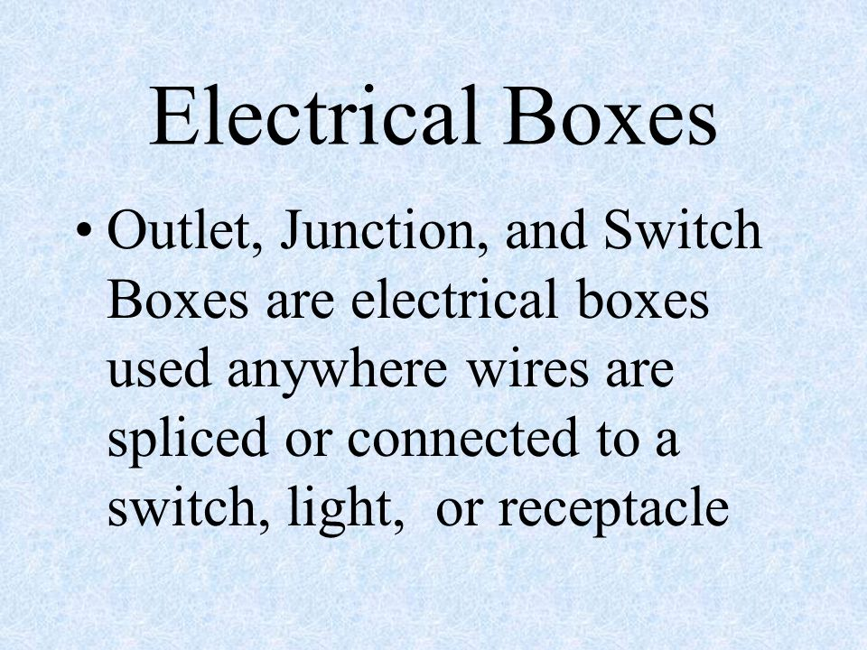 Electric Wiring Conductor A material that allows electricity to move ...