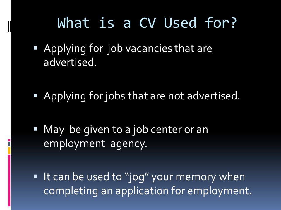 What is a Curriculum Vitae (CV)?  The origin of the term ...
