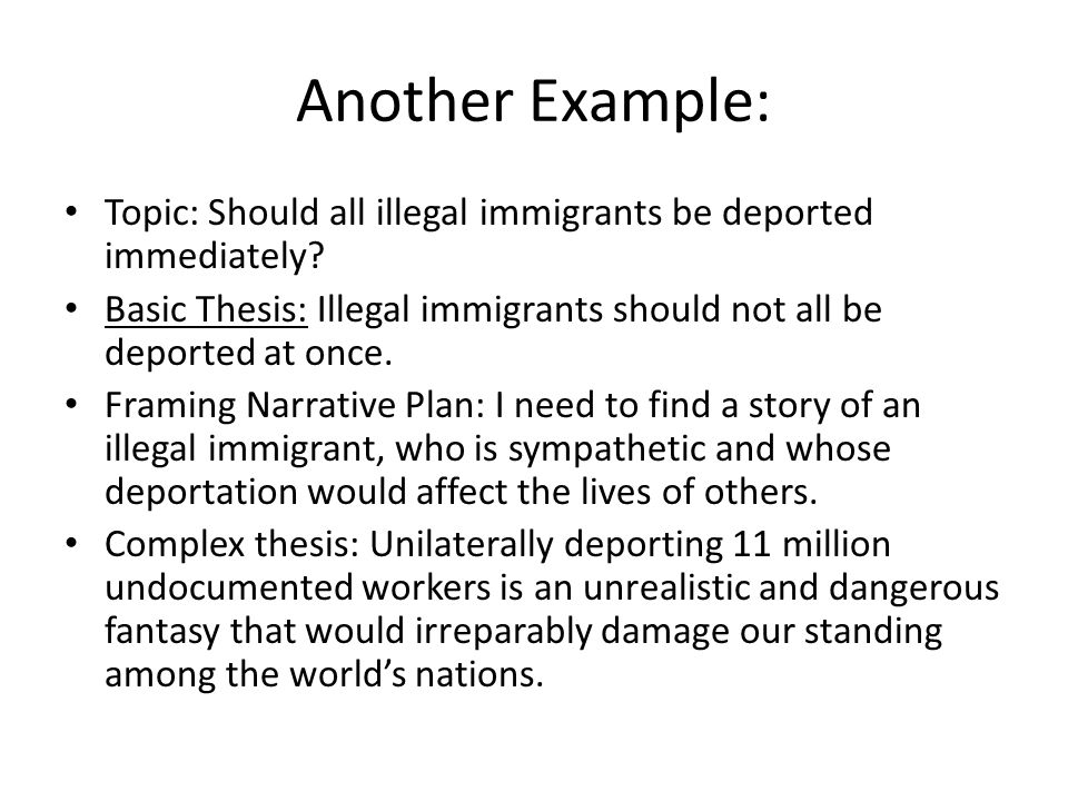 immigration thesis