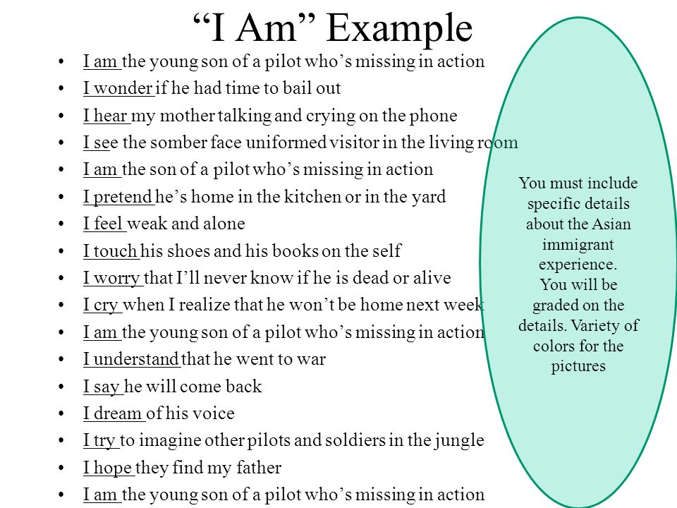 i am poem examples