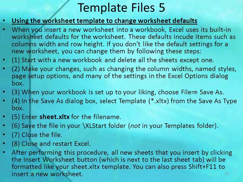Lecture 3 – Excel Files Dr Joanna Wyrobek 1. Excel File Types 1 ...