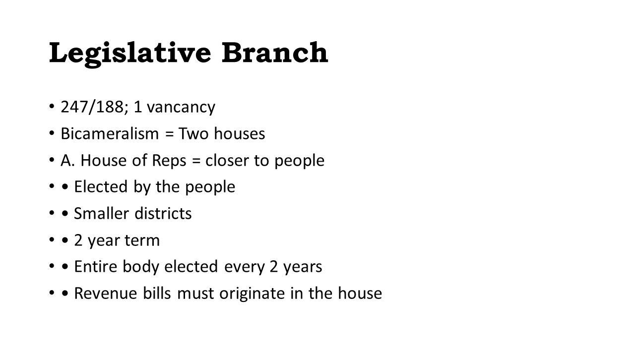 the legislative branch. legislative branch review 1.function: make