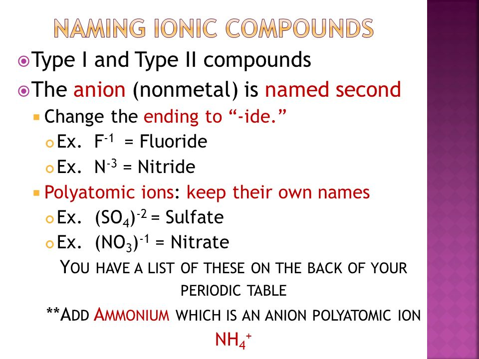 Type i compound ionic compound where cation has only one 4 urtaz Gallery