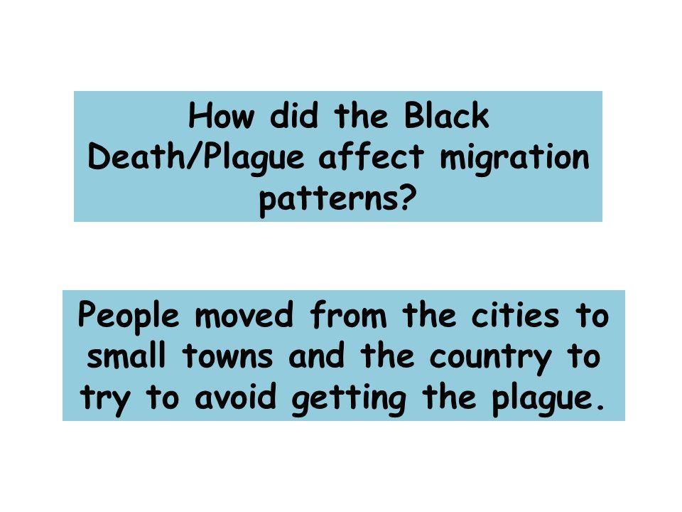 How did the Black Death/Plague affect migration patterns.