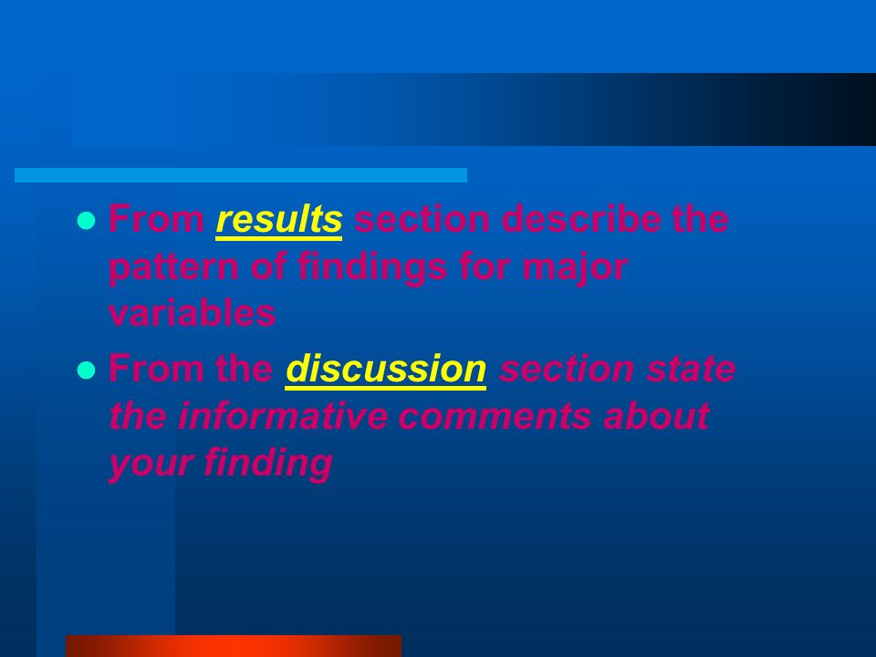 discussion section of a scientific research paper The discussion section in a scientific paper and the closing argument in a courtroom have similarities for many readers, the most important information is not.