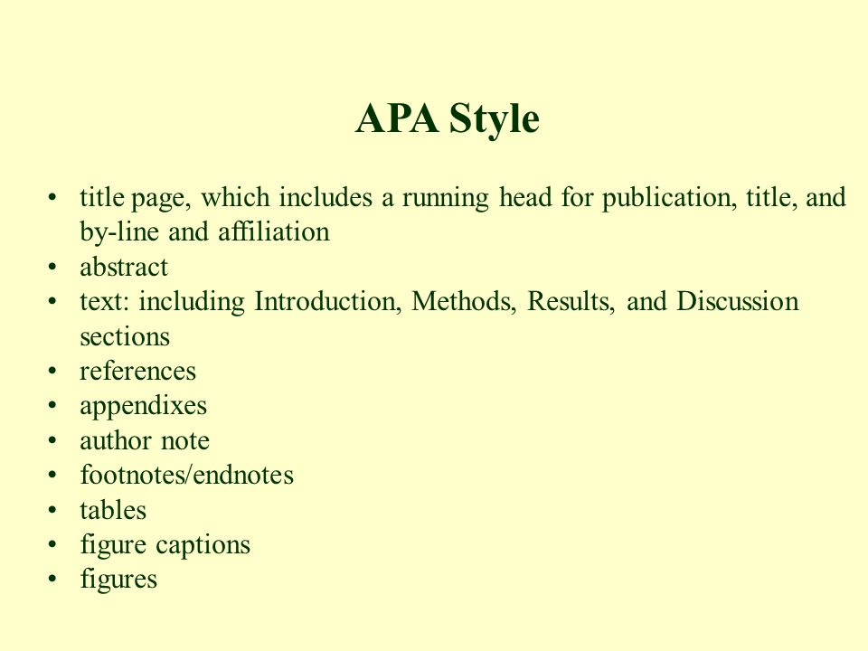 apa style first page