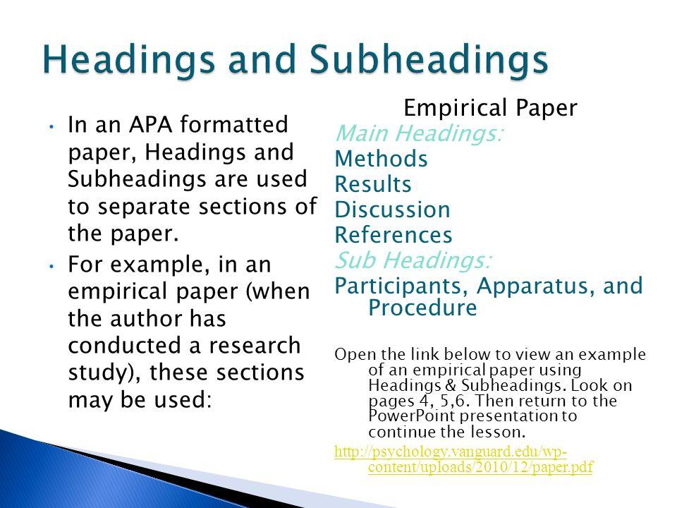 english research paper apa format
