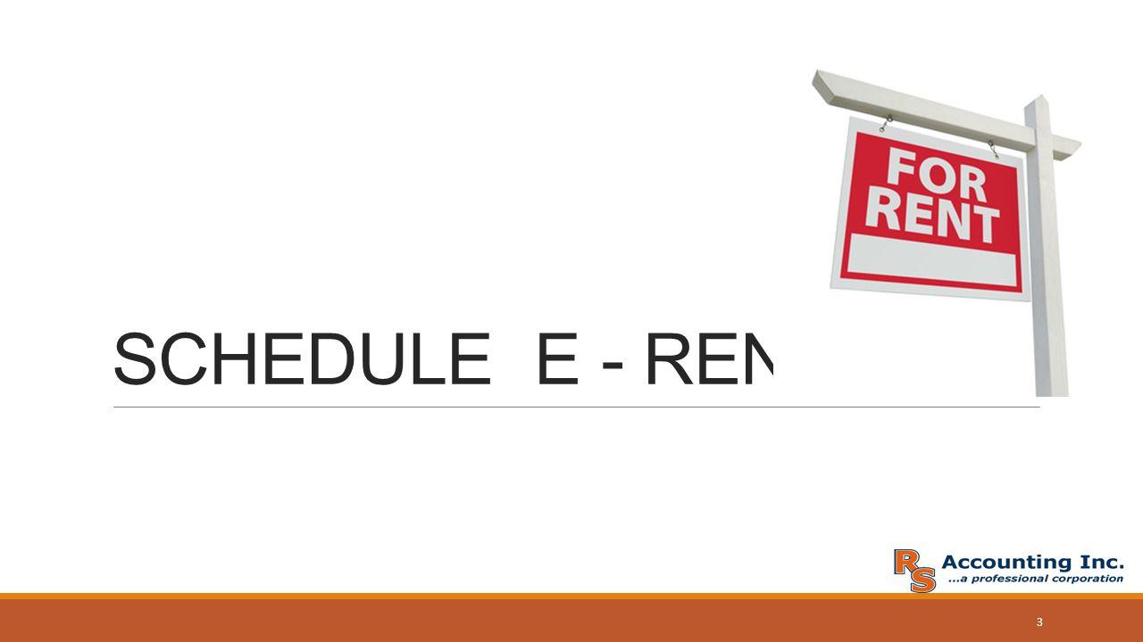 SCHEDULE E RENTALS 437 Laverne Clovis CA Ofc 559 Fax – Schedule E Worksheet