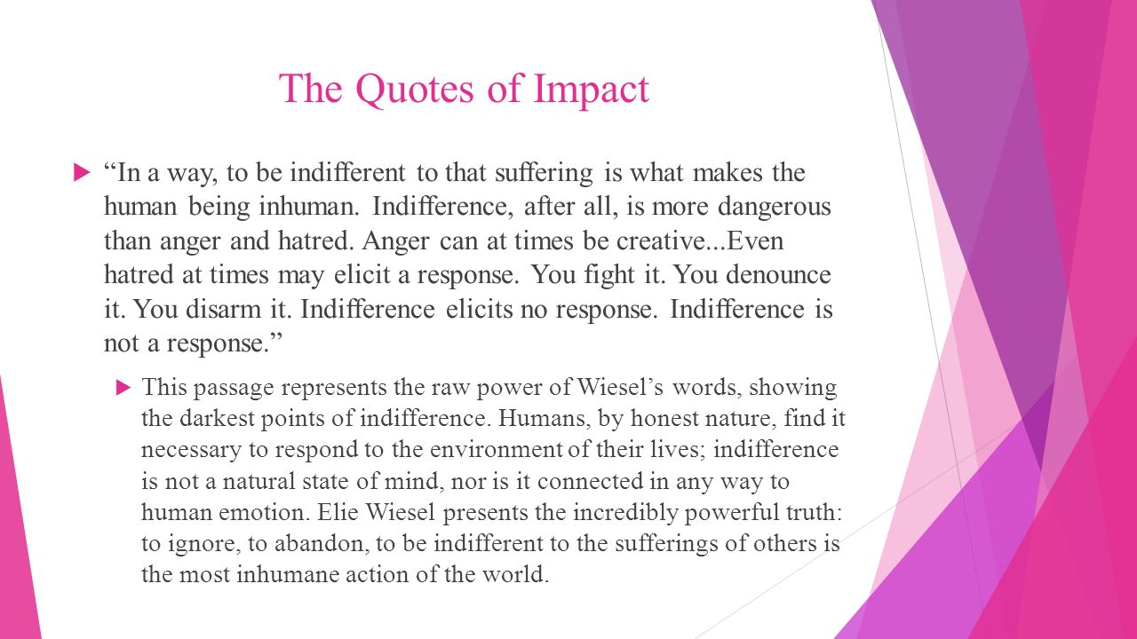 pathos ethos and logos in the speech the perils of indifference by elie wiesel