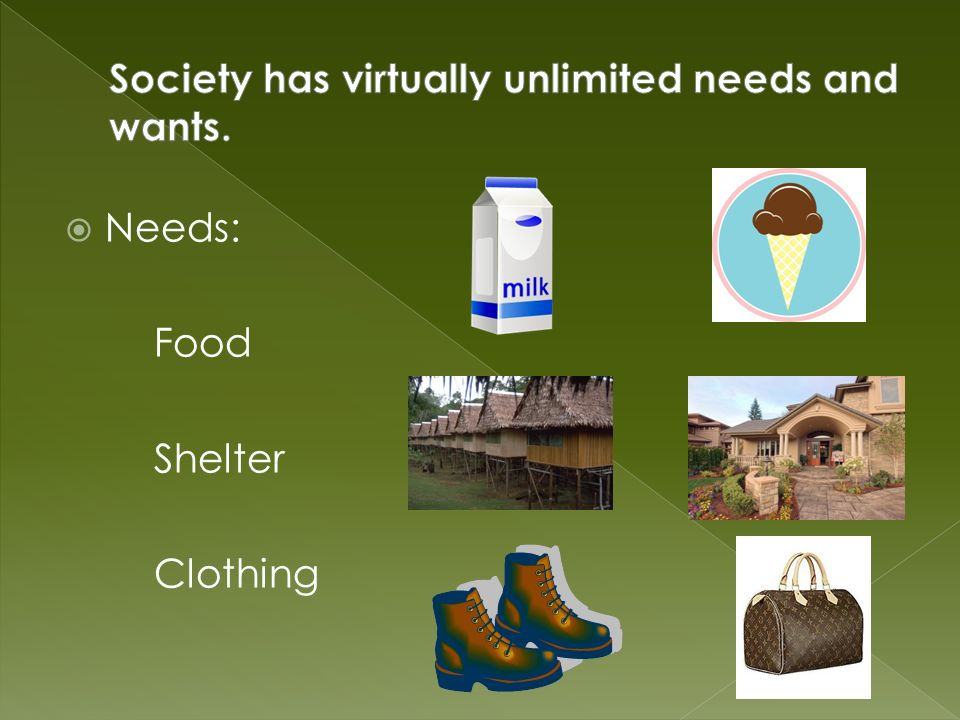  Scarcity is the fundamental economic problem facing all societies.