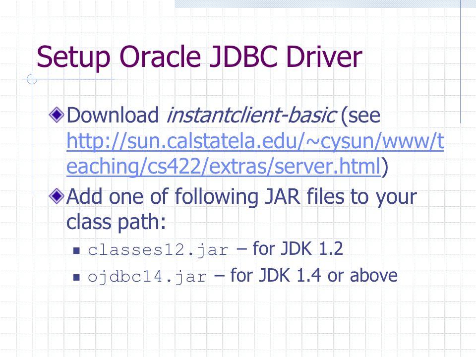 Download ojdbc14. Jar for oracle 11g.