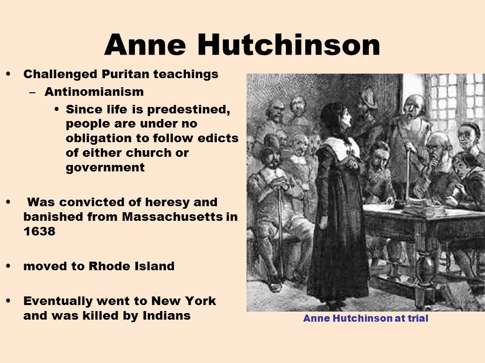 Anne Hutchinson  Early American Religious Dissident