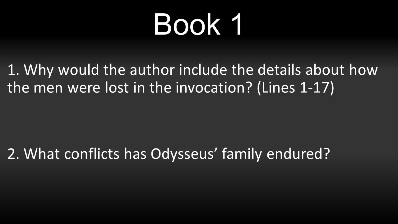 the odyssey a reading guide book why would the author why would the author include the details about how the men were