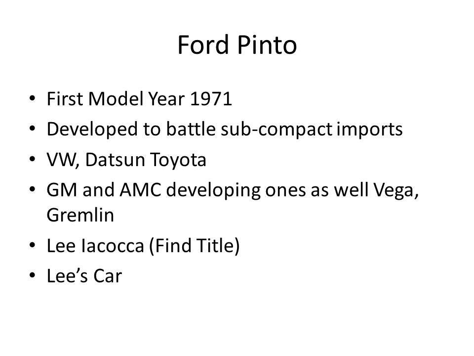 case study on ford pinto