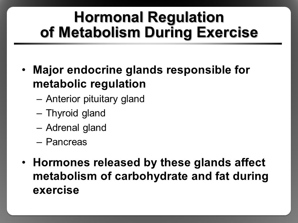 Hormonal Control During Exercise Endocrine Glands And Their