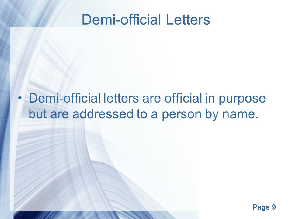 Page 1 business correspondance page 2 correspondence business 9 page 9 demi official letters demi official letters are official in purpose but are addressed to a person by name thecheapjerseys Choice Image