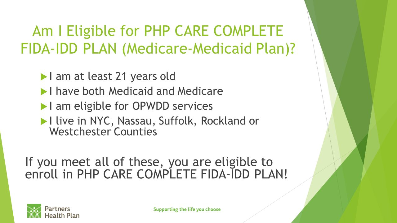 Am I Eligible For Php Careplete Fidaidd Plan (medicaremedicaid Plan