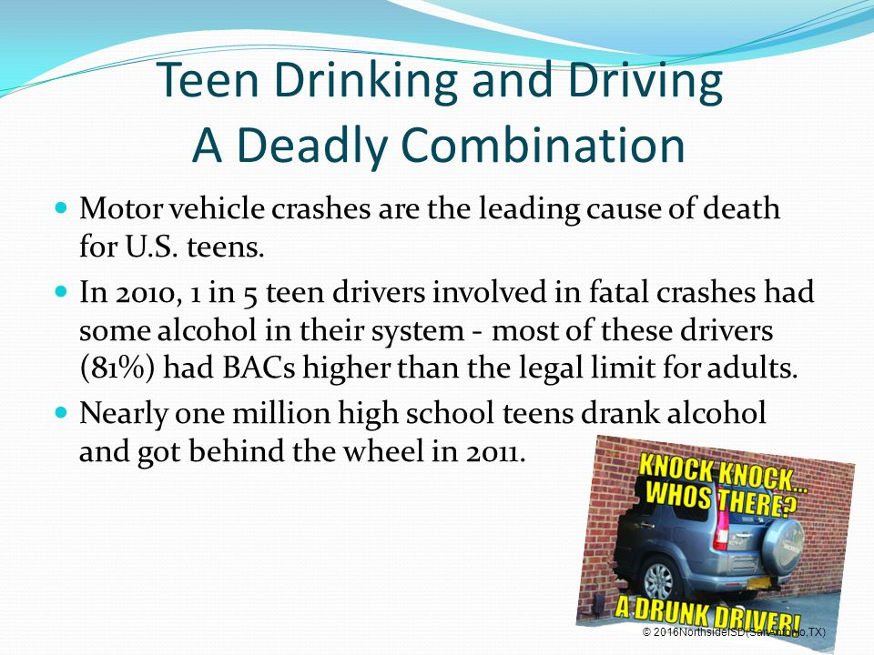 drinking and driving the leading cause Prom night & teen drinking: the facts car crashes are the leading cause of death for teens — roughly 25% of more parents are aware of drinking and driving.