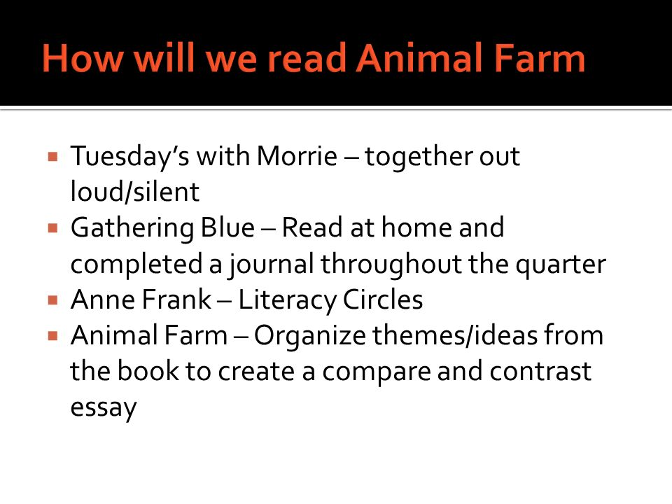 essential question explain how animal farm is an allegory 3 iuml130iexcl tuesday s