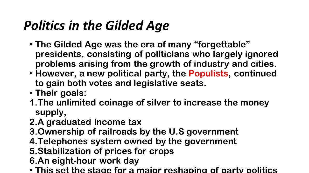 politics gilded age