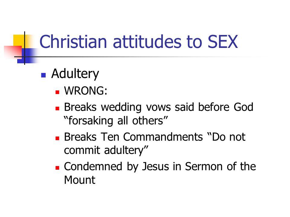Attitudes to premarital sex christianity