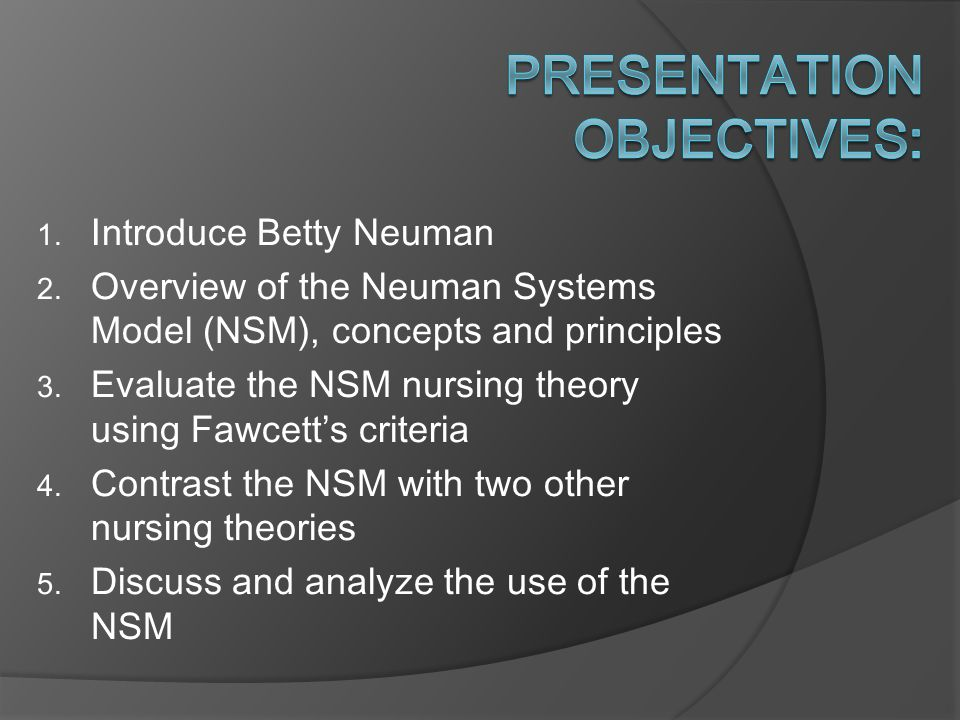 betty neuman nursing theory