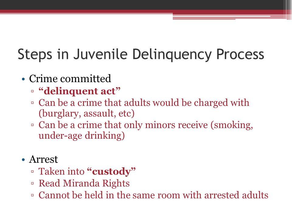 s b a juvenile delinquency