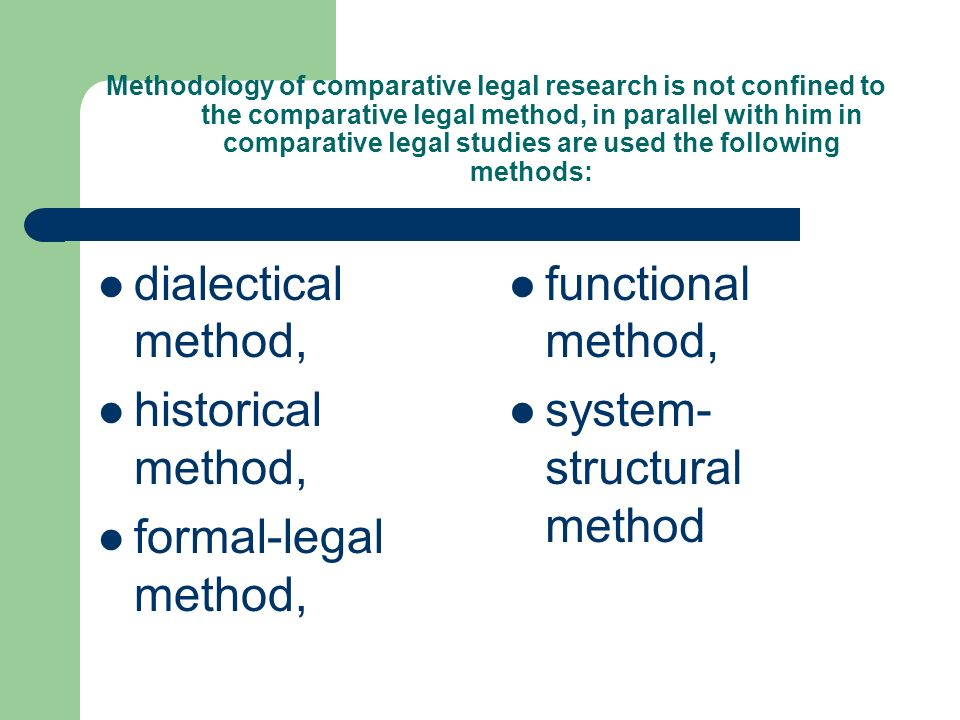 comparitive legal history The esclh aims to promote comparative legal history and seeks affiliation with individuals and organisations with complementary aims.
