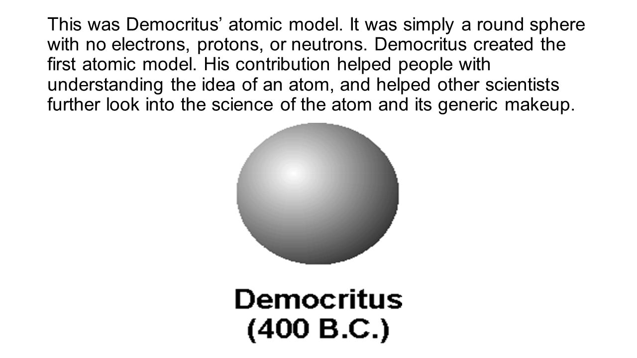 Atomic theory vocabulary models and scientists the discovery of this was democritus atomic model ccuart Gallery