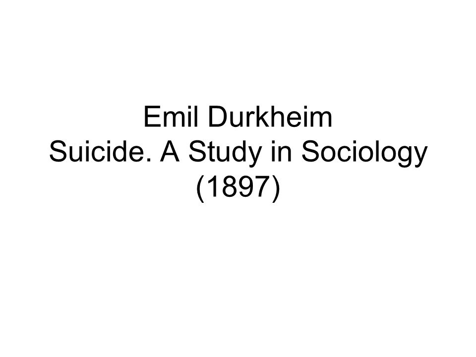 durkheim suicide