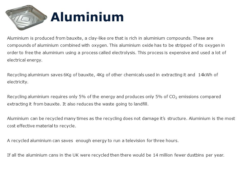 aluminiumrecyclingcostproduction essay Is recycling worth the trouble, cost by geraldine bloomberg has proposed an 18-month moratorium on recycling glass, plastic and aluminum in cash.