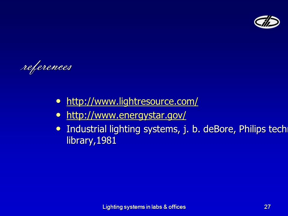 27 Lighting ...  sc 1 st  SlidePlayer & Lighting systems in labs u0026 offices1 Subject: By:a.Yousefvand ... azcodes.com