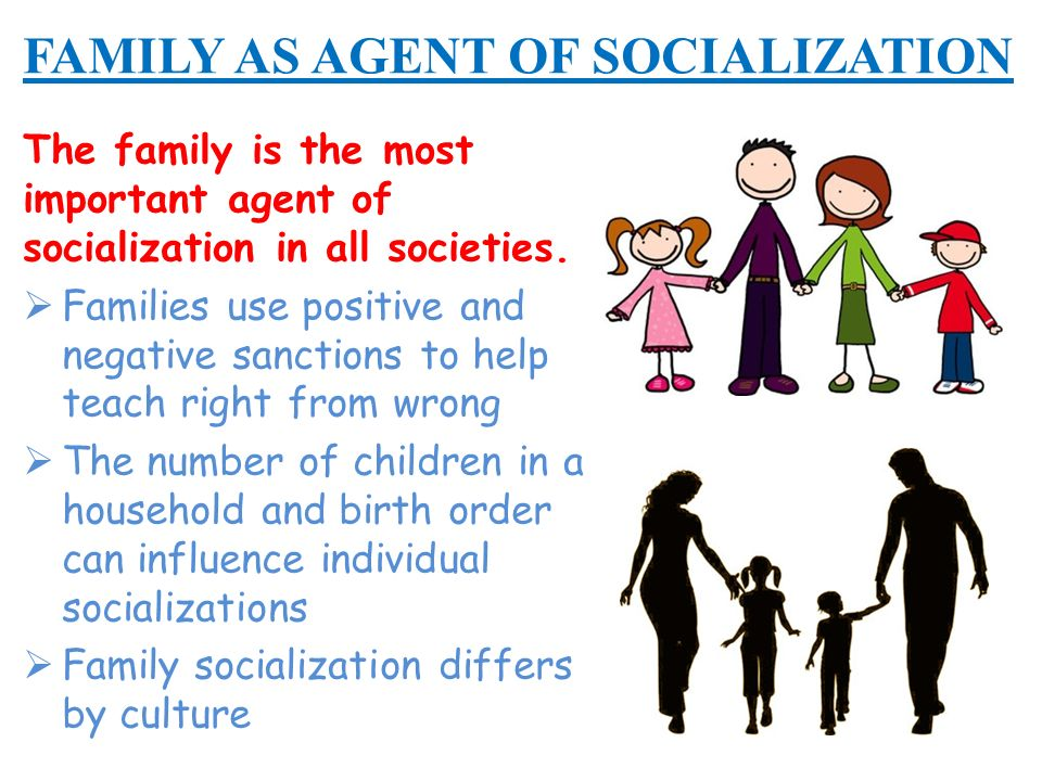 agent of socialization In short, an agent of socialization assists in the development process by influencing the individual a.