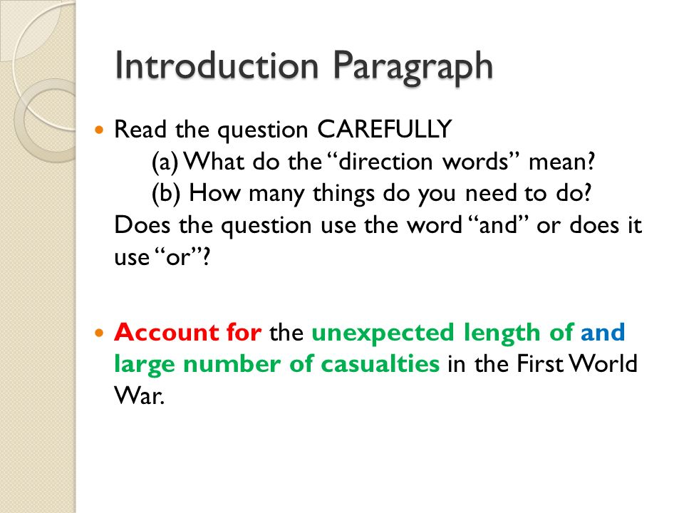 Introduction Words For Essays
