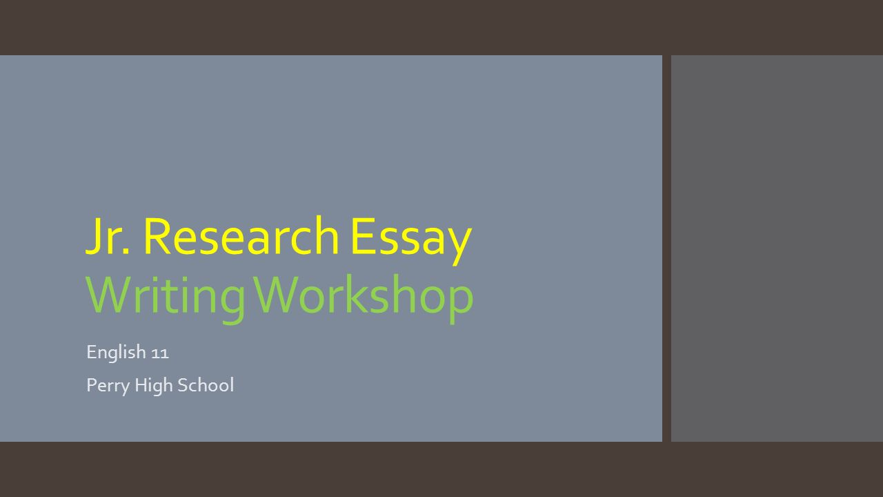 reasearch essays