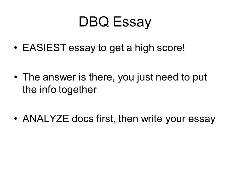 dbq essay rubrics