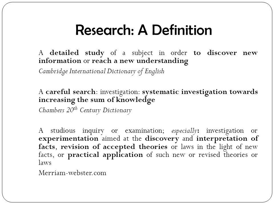 Define Dissertation Thesis